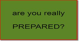 Preppers are you prepared