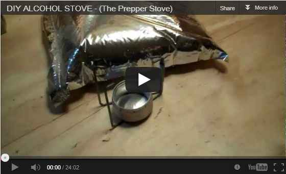 Make a prepper stove with just scrap