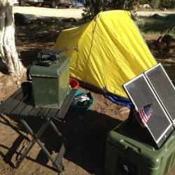 Simple DIY portable solar power unit for camping or emergencies