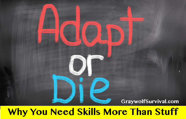 Adapt or die: Why you need more skills and less stuff