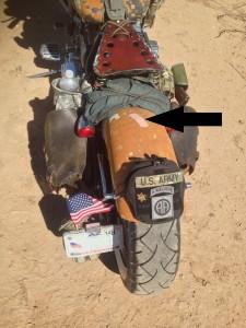 Desert warrior harley motorcycle seat pad