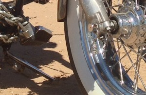 Desert warrior harley motorcycle bell