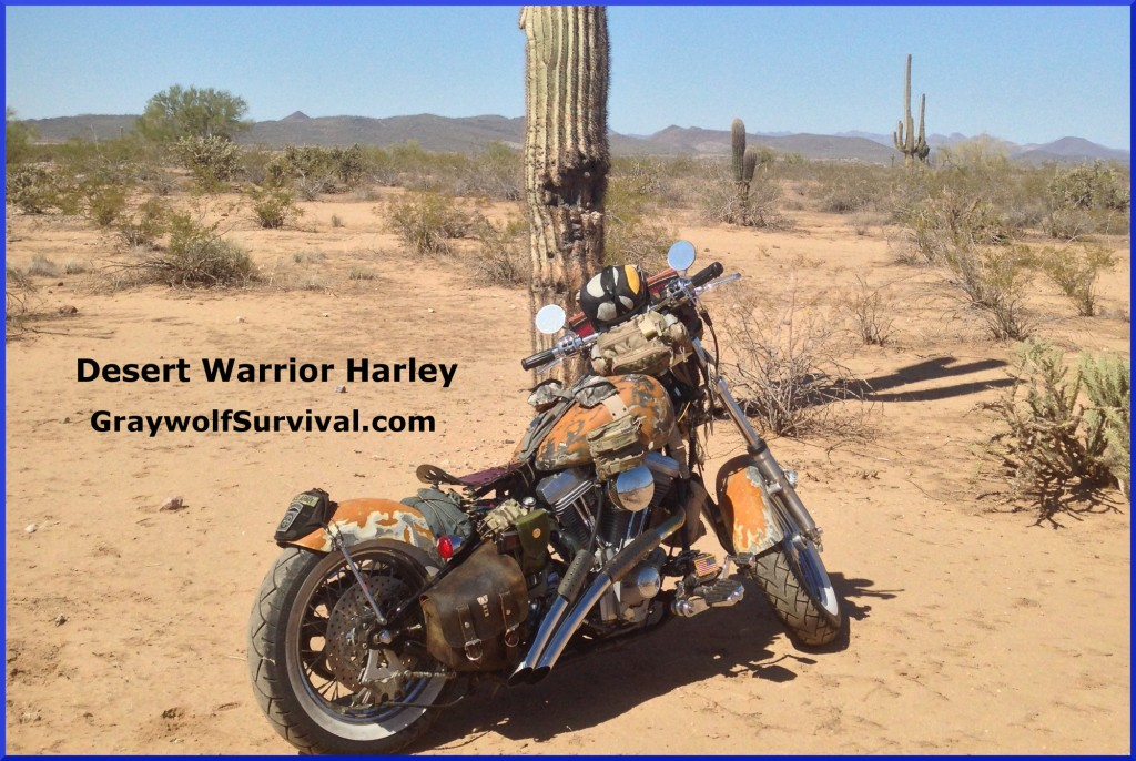 Check Out the Desert Warrior Harley SHTF Motorcycle