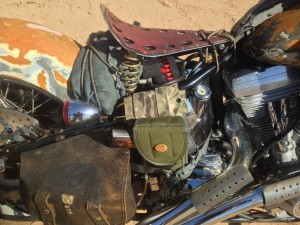 Desert warrior harley motorcycle hardtail seat