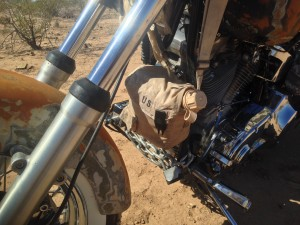 Desert warrior harley motorcycle