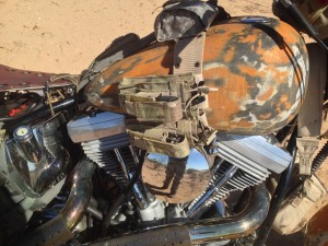 Desert warrior harley motorcycle tank