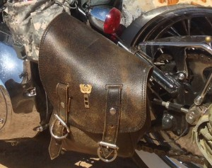 Desert warrior harley motorcycle jack daniels crankcase filter saddle bag