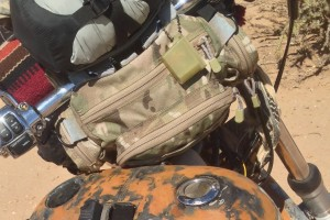 Desert warrior harley motorcycle waist pack
