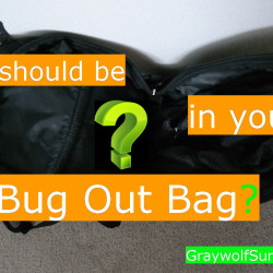 What should be in your bug out bag?