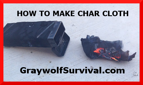 A simple way to make your own char cloth