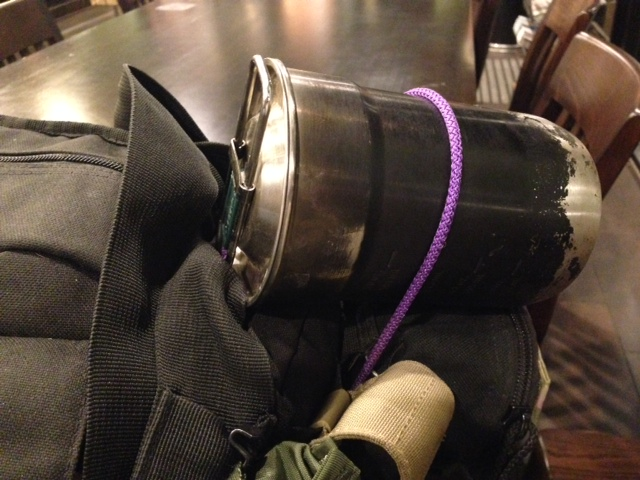 survival cooking cup on bugout bag