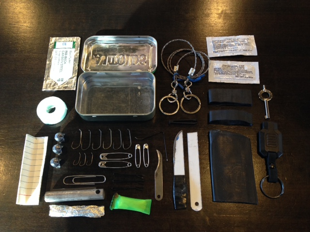 Altoids tin survival kit contents