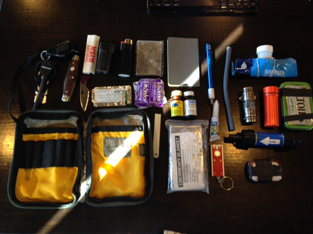 survival kit side pocket contents