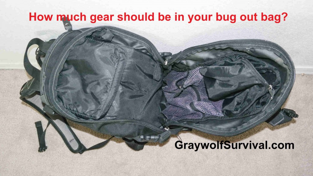 How much gear should be in your bug out bag