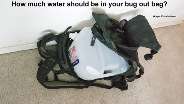 How much water should be in your bug out bag