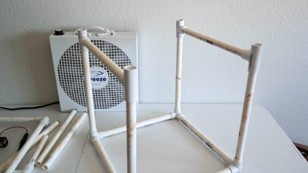 PVC with cross beams