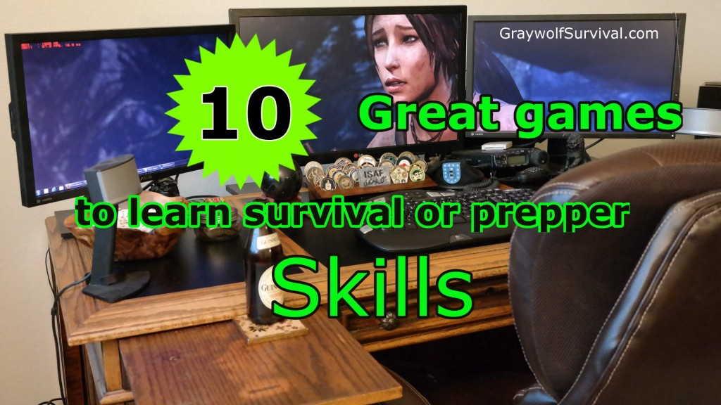 10 great games to learn survival or prepper skills