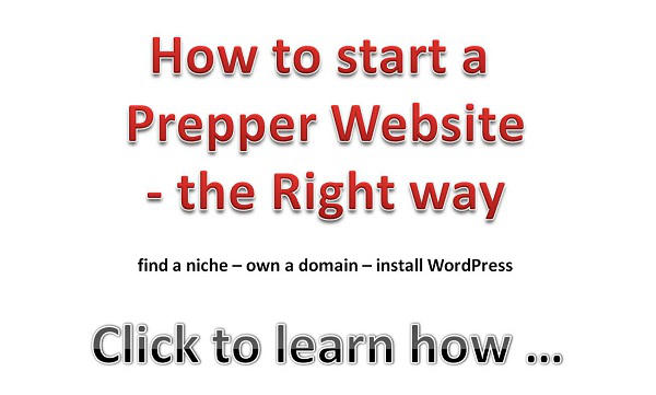 How to start a prepper website - the right way