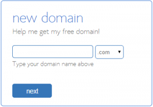Sign Up a new domain with Bluehost