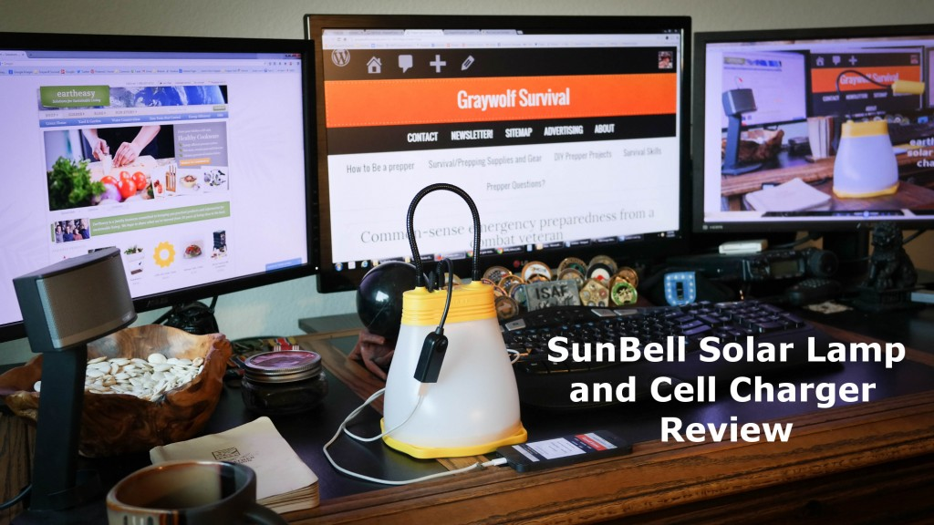 Prepper gear review: The eartheasy SunBell lamp and phone charger