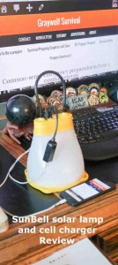 sunbell solar lamp and cell charger review pinterest