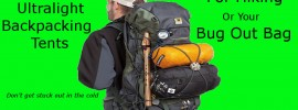 9 ultralight backpacking tent for hiking or bug out bags