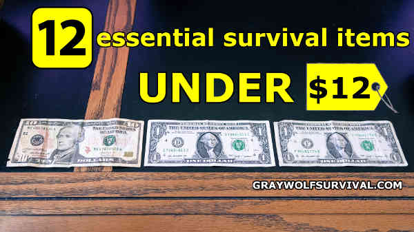 Quality survival gear isn't always expensive. By choosing carefully, you can find gear for your kit or as a gift. Here are 12 essential survival items for your bug out bag or camping equipment, all under $12. -- https://graywolfsurvival.com/14778/12-essential-survival-items-under-12/
