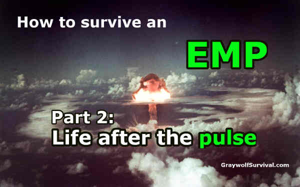 There is a lot we don't know about the effects of an EMP/CME but there are some things that we do. Knowing what would happen to your electronics, your car, and your life is the first part of being prepared for an EMP - How to survive an EMP attack 2 life after the pulse - http://graywolfsurvival.com/?p=5454