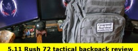 511 rush 72 tactical backpack bug out bag review