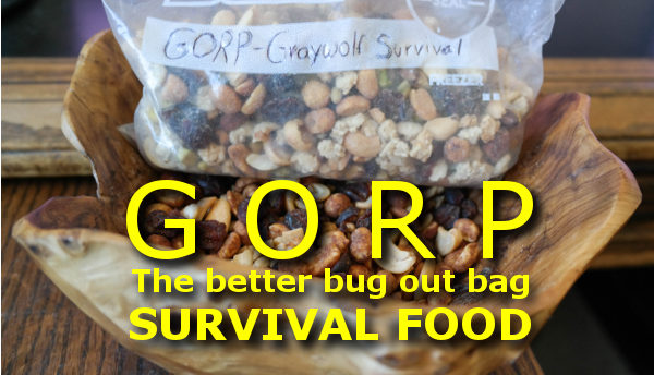 Best bug out bag survival food: GORP
