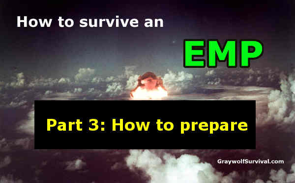 The threat of an EMP/CME to our society is very real and most people and governments are woefully unprepared. Here's what you should do to start preparing. - http://graywolfsurvival.com/14689/how-to-survive-an-empcme-part-3-how-to-prepare