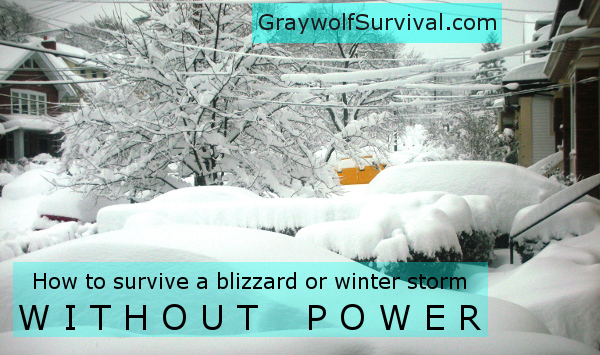 blue Surviving a blizzard or winter storm without power