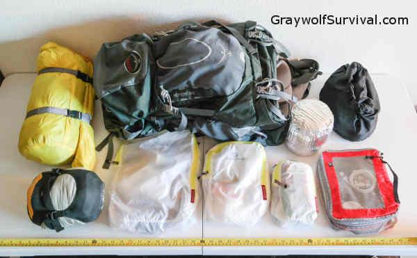 Bug Out Bag Backpack Bags Sleeping Bag and Tent