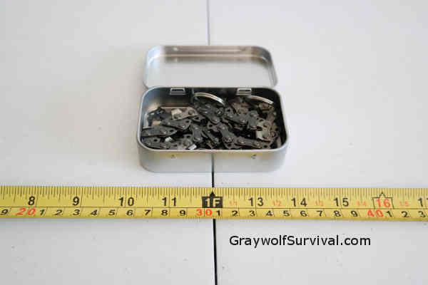 Hand Saw Inside Tin