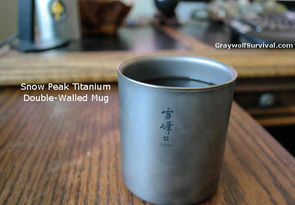 Snow Peak Titanium Double Wall Cup H450