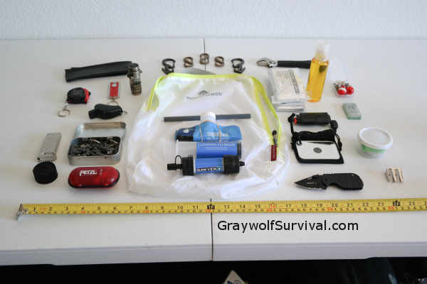 Survival-Tools Kit Layed Out