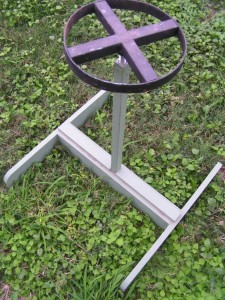 Fresnel solar oven - stand