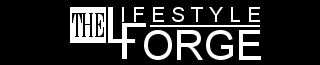 The Lifestyle Forge Black White 328x65 logo