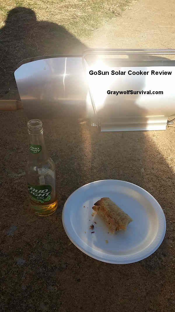 gosun solar cooker stove with beer