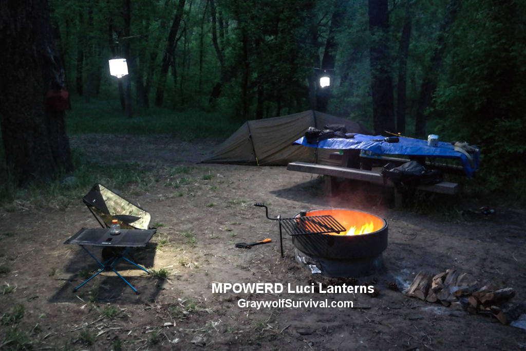 Mpowered Luci Solar lanterns hanging at night 1024 GS