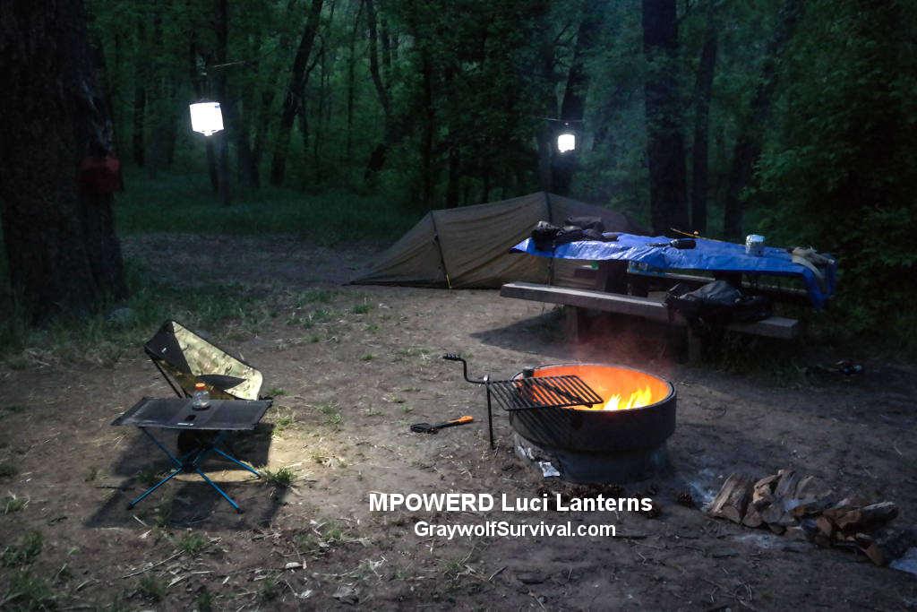Mpowered Luci Solar lanterns hanging at night 1024 GS