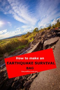 how to make an earthquake survival kit