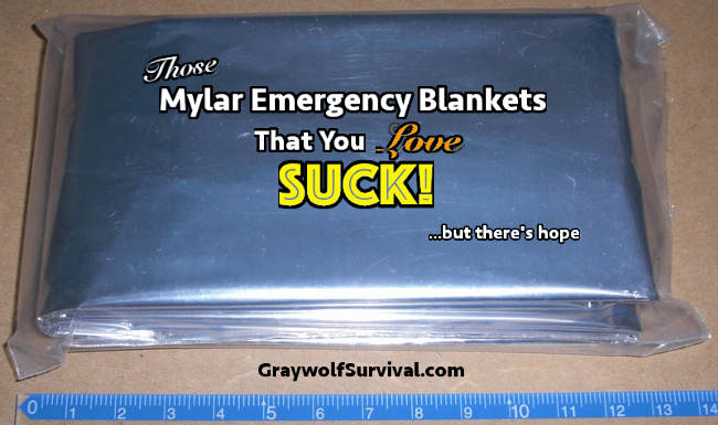 The mylar emergency blankets you love SUCK – but there's hope