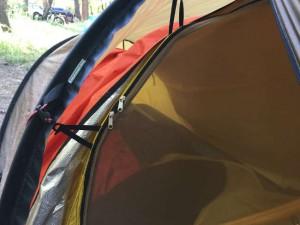 emergency blanket between inner tent and ranfly