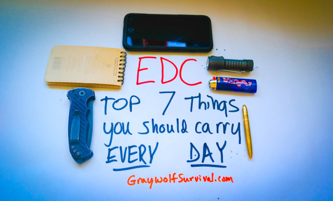 EDC top 7 things you should carry every day
