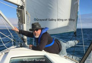 Me, sailing wing-on-wing in a sailboat race